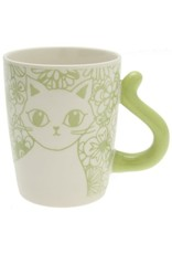 Kotobuki Trading Co. Inc Cat's Tail Floral Mug - Green
