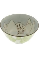 "Kotobuki Trading Co. Inc Bowl Blue Rhododendron Sketch 5-1/4"""