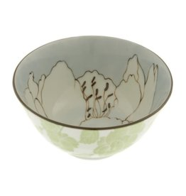 Kotobuki Trading Co. Inc Bowl Blue Rhododendron Sketch