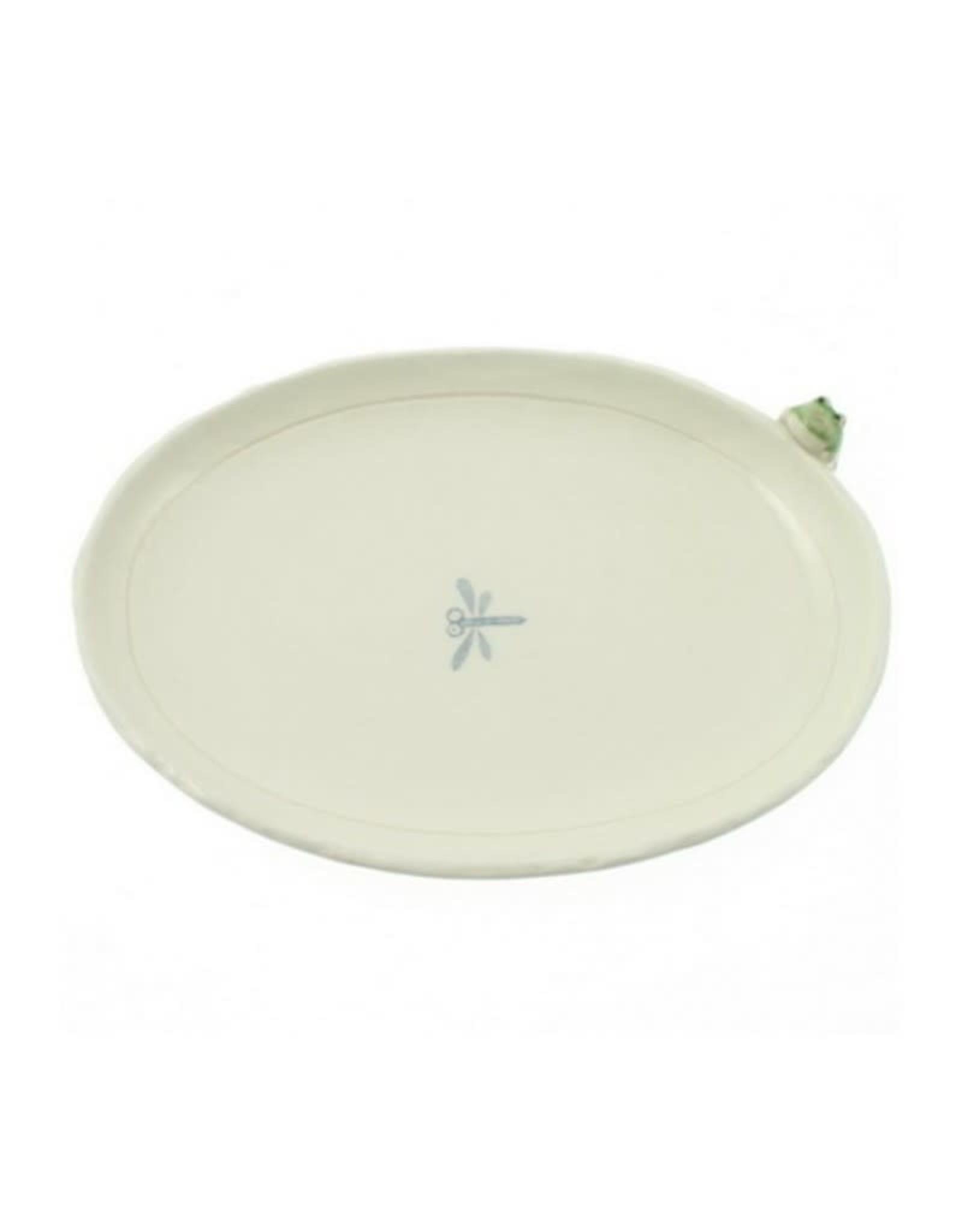 Kotobuki Trading Co. Inc Plate Oblong Frog/Dragonfly