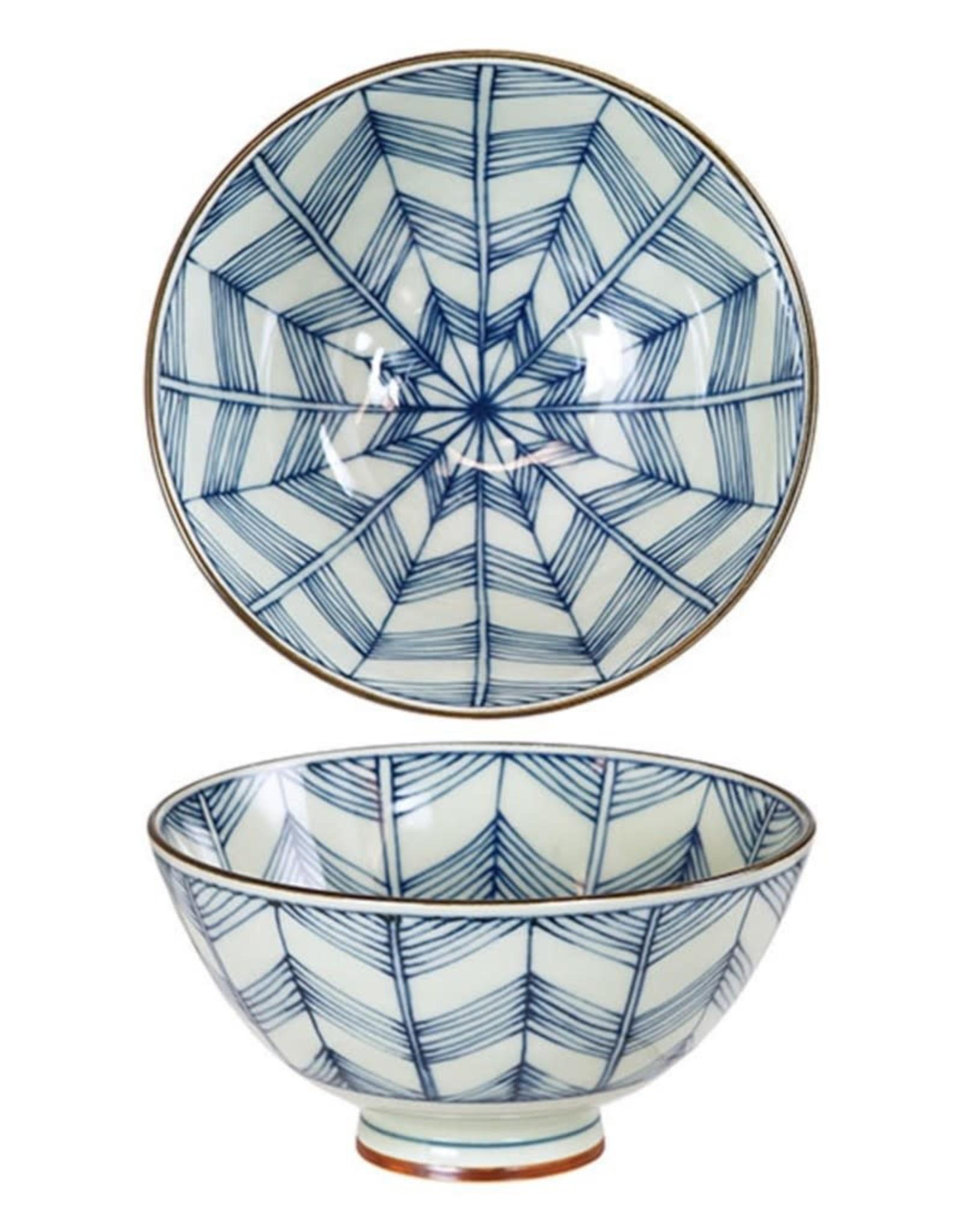 Kotobuki Trading Co. Inc Rice Bowl Antique Kimono Star