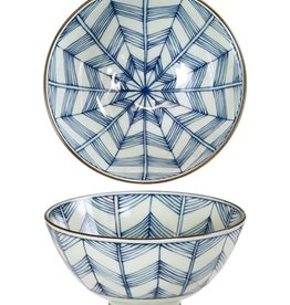 Kotobuki Trading Co. Inc Rice Bowl Antique Kimono Star