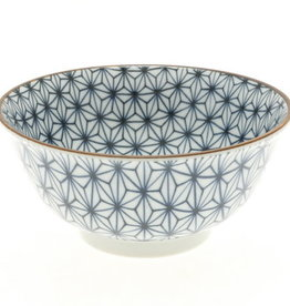 Kotobuki Trading Co. Inc Bowl Cobalt Hemp Leaf 6""