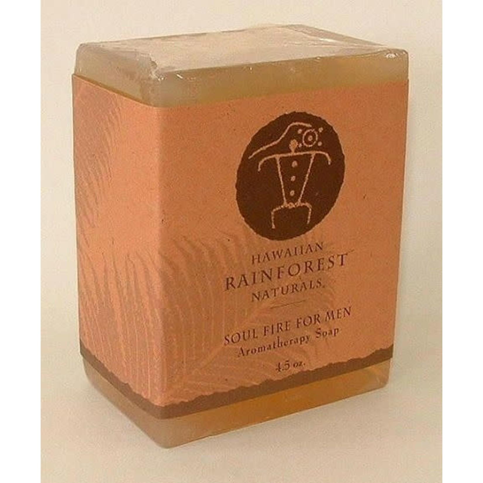 Hawaiian Rainforest Naturals Inc. Soul Fire For Men Aromatherapy Soap