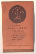 Hawaiian Rainforest Naturals Inc. Soul Fire For Men Bath Crystals