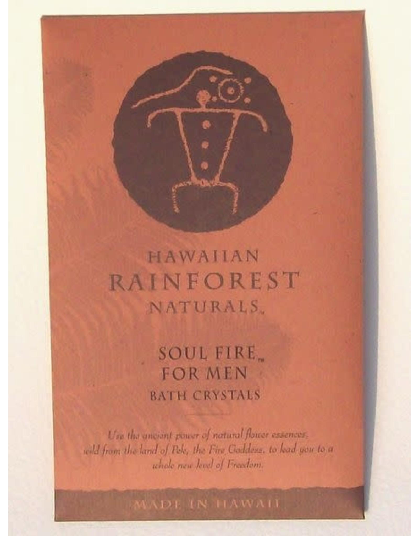 Hawaiian Rainforest Naturals Inc. Soul Fire For Men Bath Crystals