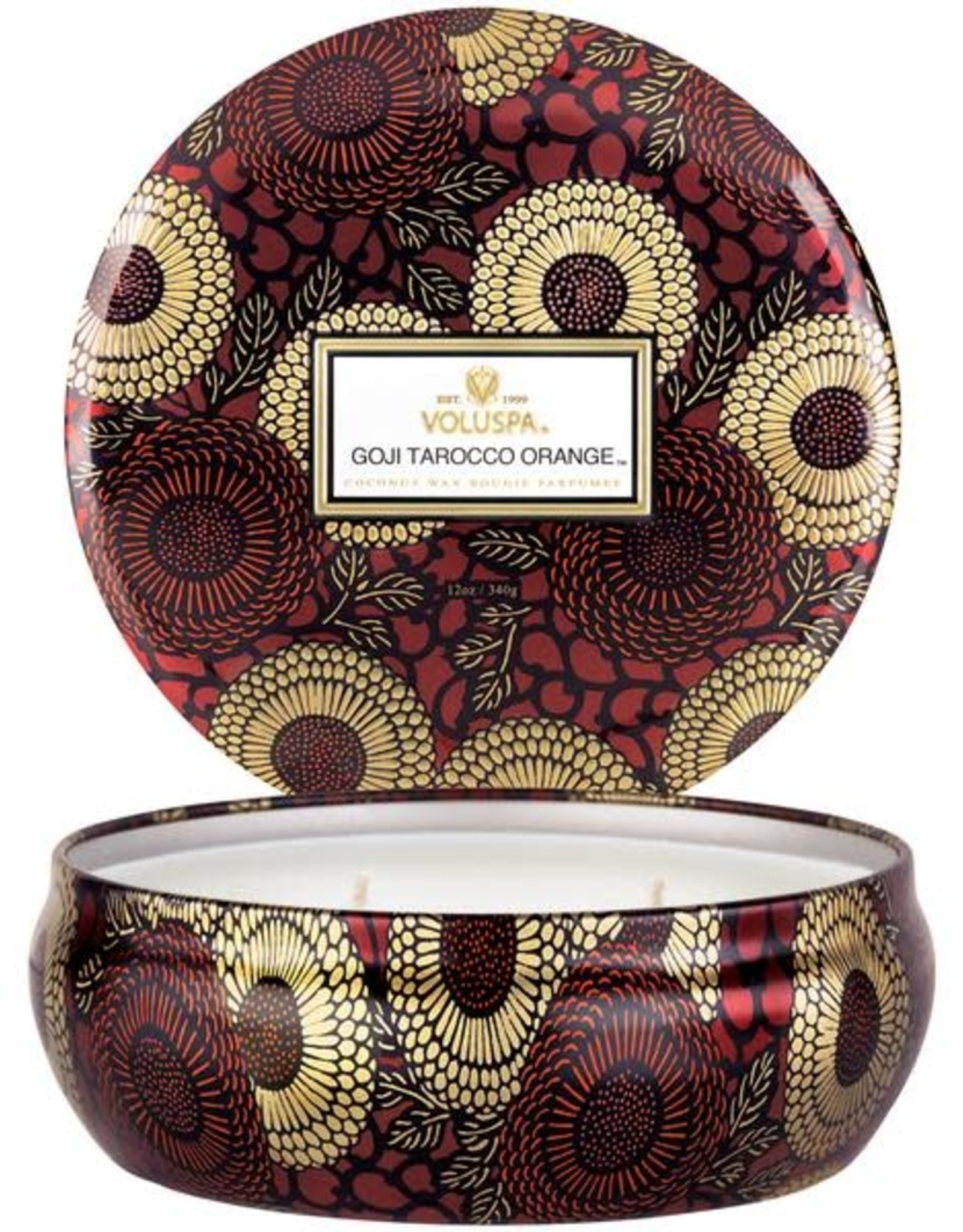 3 Wick Candle in Decorative Tin