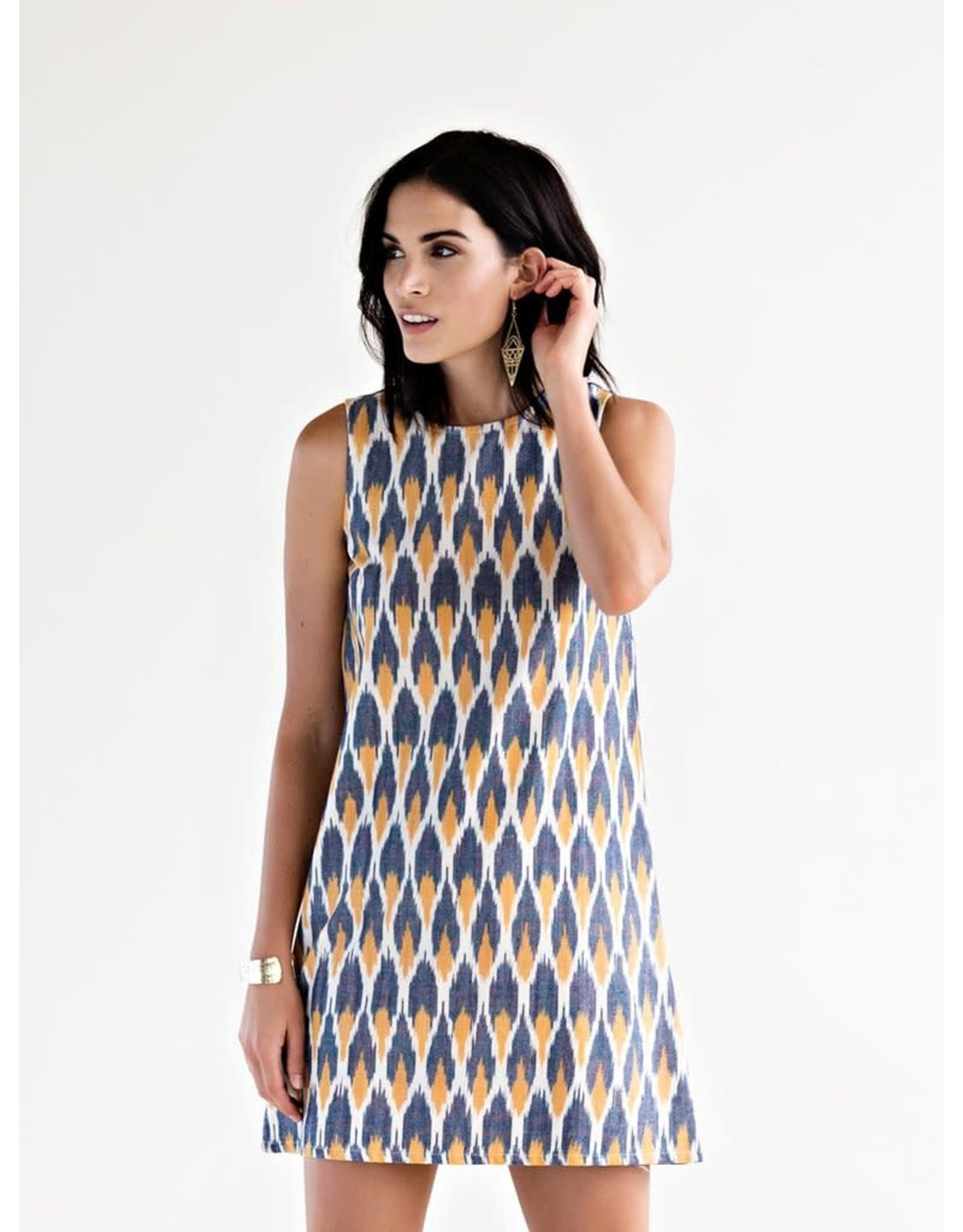 Mata Traders Ikat Polo Dress