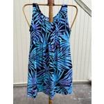 Tropical Earth Tones Sleeveless Short Dress