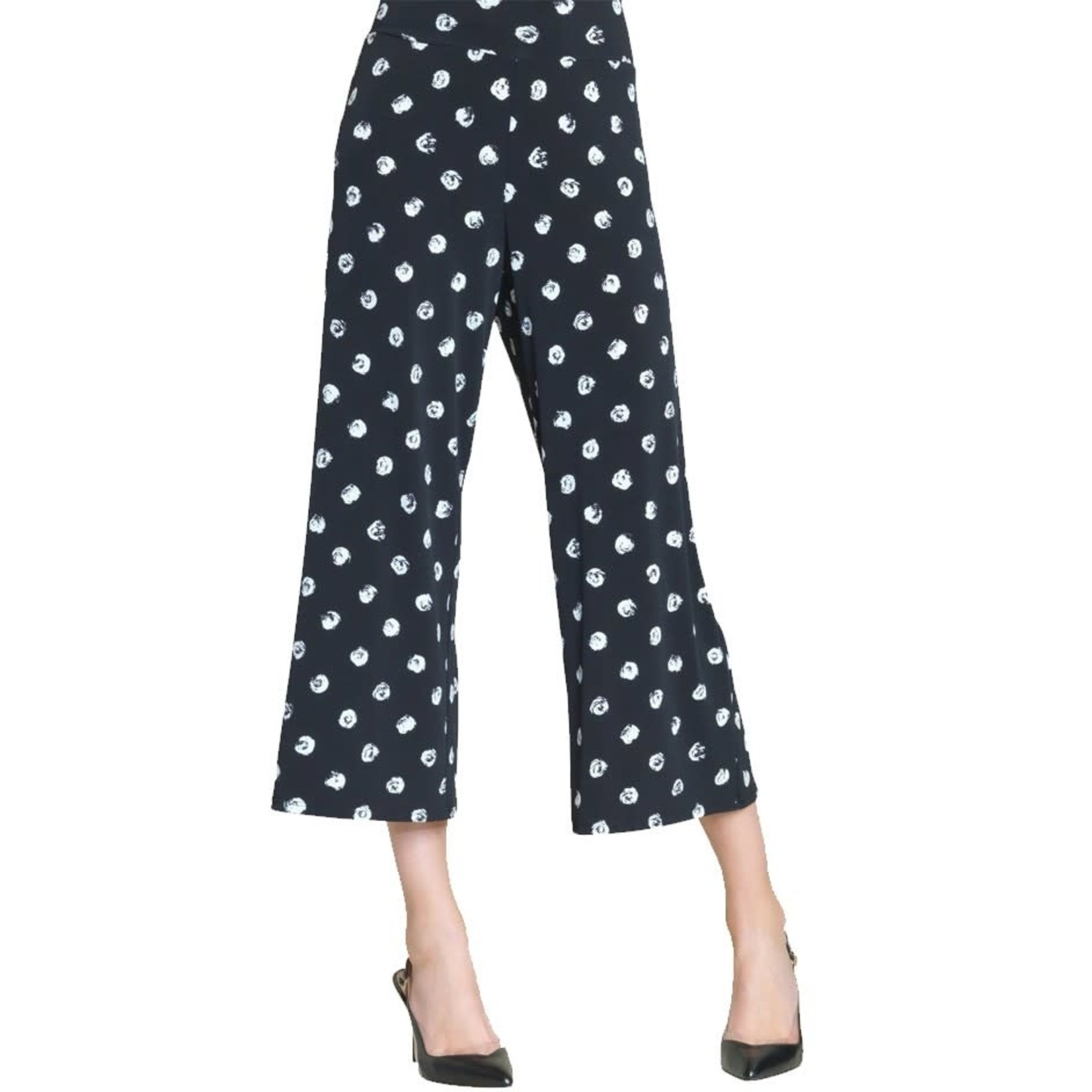 Clara Sunwoo Mini-Rose Polka Dot Print Soft Knit Gaucho