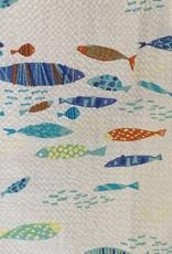 LOFT604 Shirt Fish Pattern Seersucker