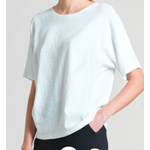 Clara Sunwoo Soft Cotton Stretch Top w/ Back V Cut Out Detail
