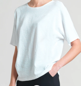 Soft Cotton Stretch Top w/ Back V Cut Out Detail