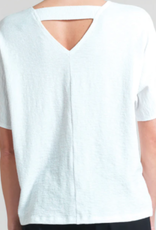 Soft Cotton Stretch Top w/ Back V Cut Out Detail