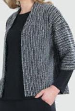 Braid Printed Soft Jacquard Modern Bolero Cardigan