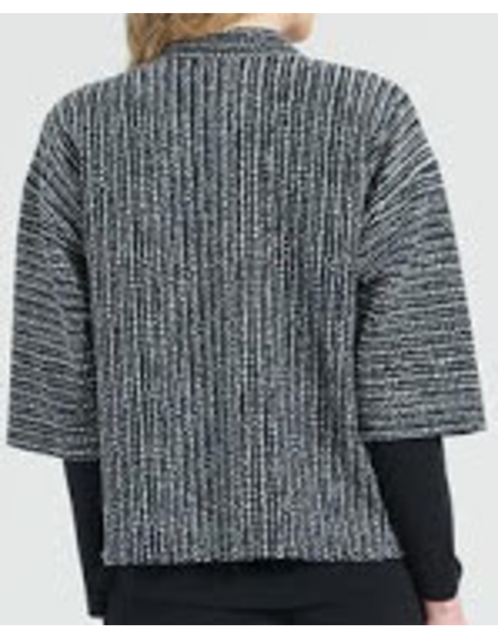 Clara Sunwoo Braid Printed Soft Jacquard Modern Bolero Cardigan