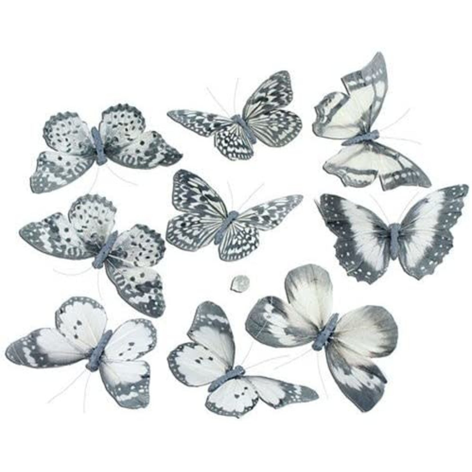 """Gifts of Nature THH1405 Pale White w/ Black Butterfly Garland 5""""x2""""x78"""""""