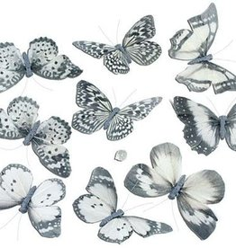 "Gifts of Nature THH1405 Pale White w/ Black Butterfly Garland 5""x2""x78"""