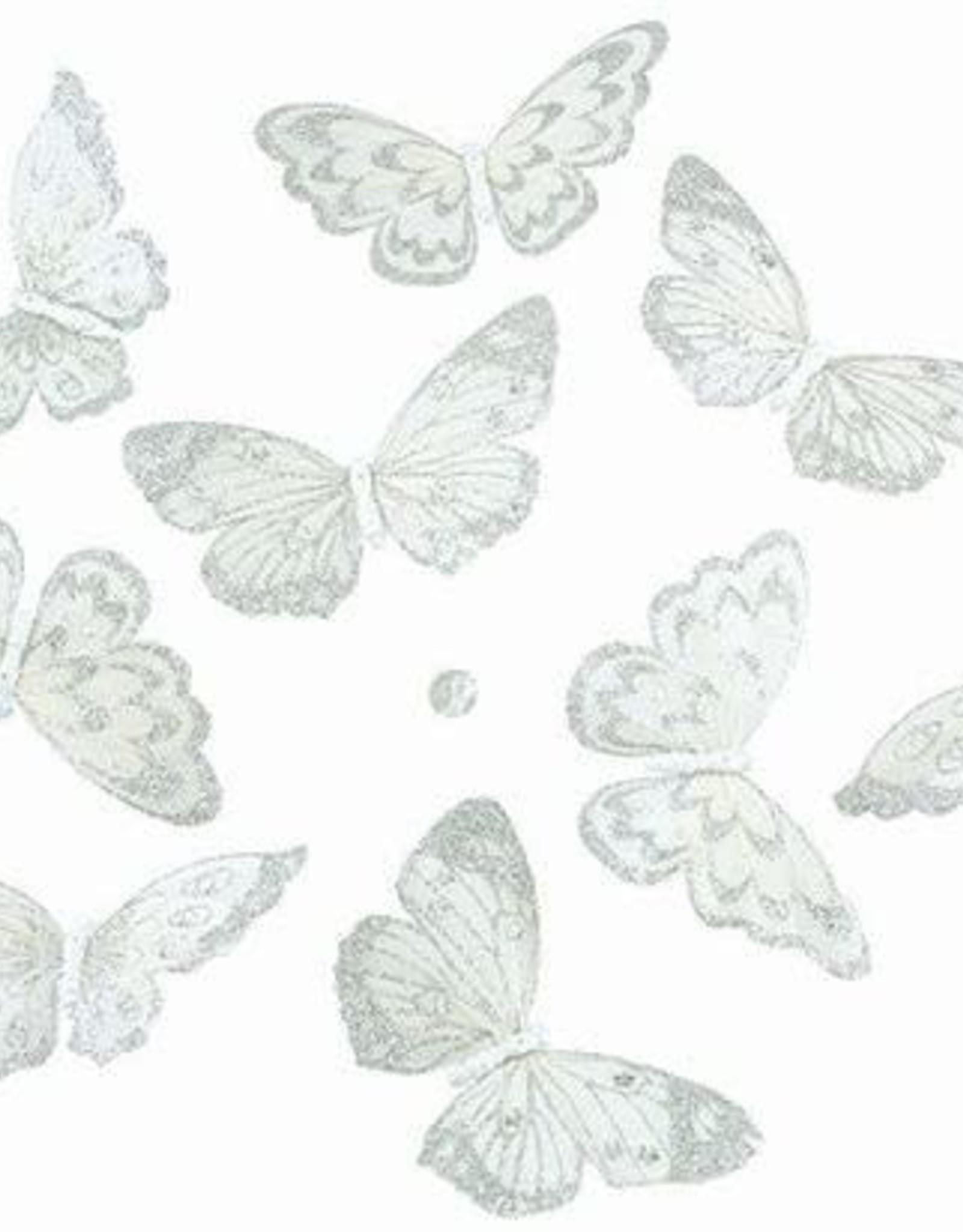 "Gifts of Nature THH1132 NAT'L WHITE W/SILVER GLTR BTRFLY GRLD 9PC 5x2.5x78""l"