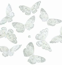 "Gifts of Nature THH1132 NAT'L WHITE W/SILVER GLTR BTRFLY GRLD 9PC 5x2.5x78""l"