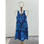 Tropical Earth Tones Sleeveless Long Dress