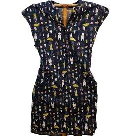 Dog/Owl/Umbrella Print Dress