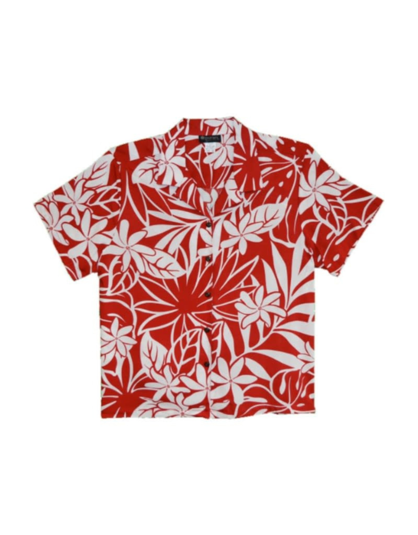 Robert J. Clancey April Blooms Red Women's Camp Shirt