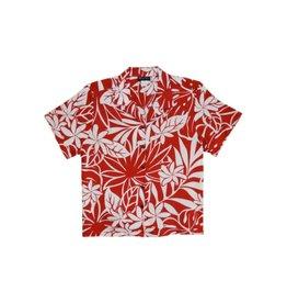 Robert J. Clancey April Blooms Red Women's Camp Shirt