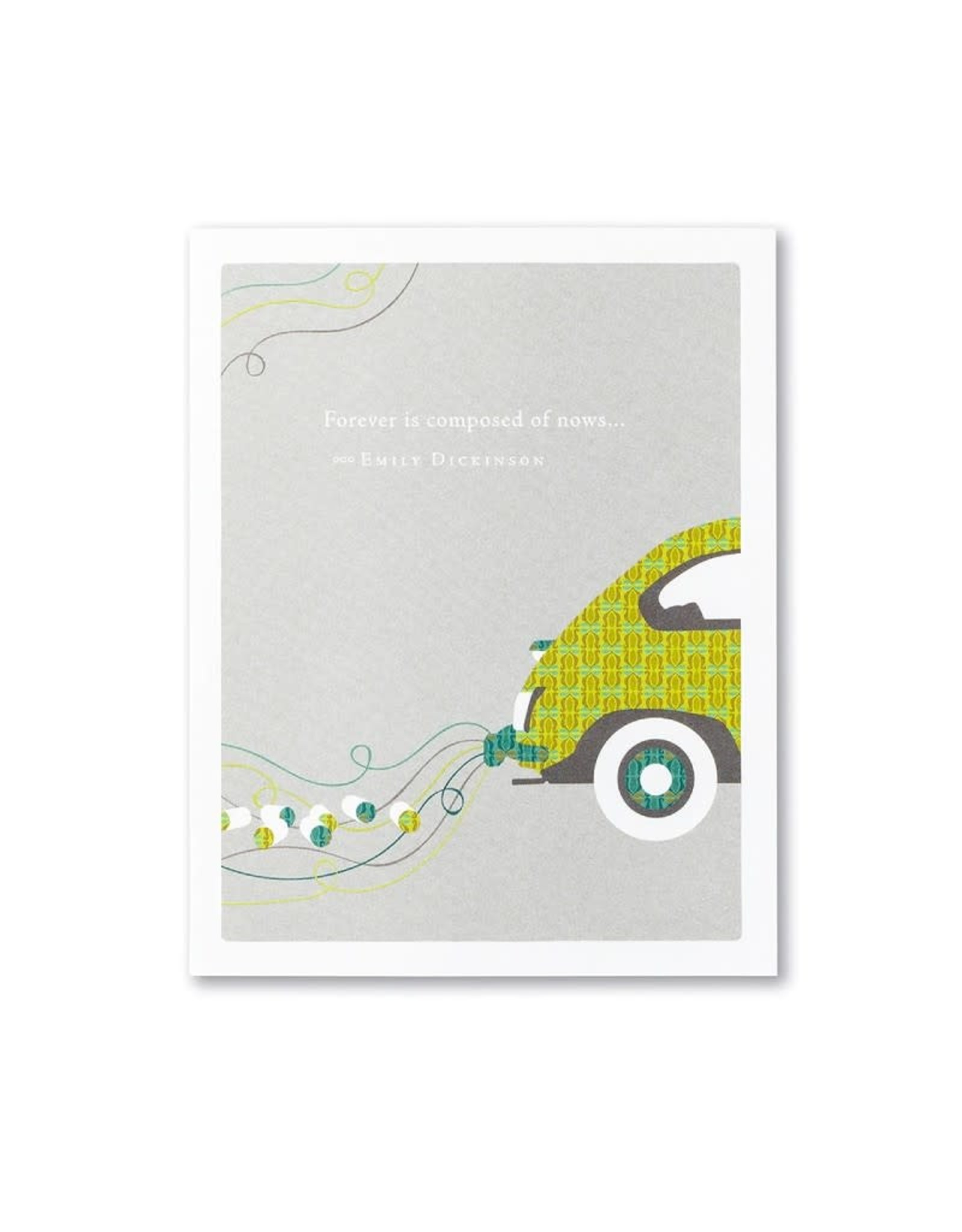 Positively Green PG Card Wedding