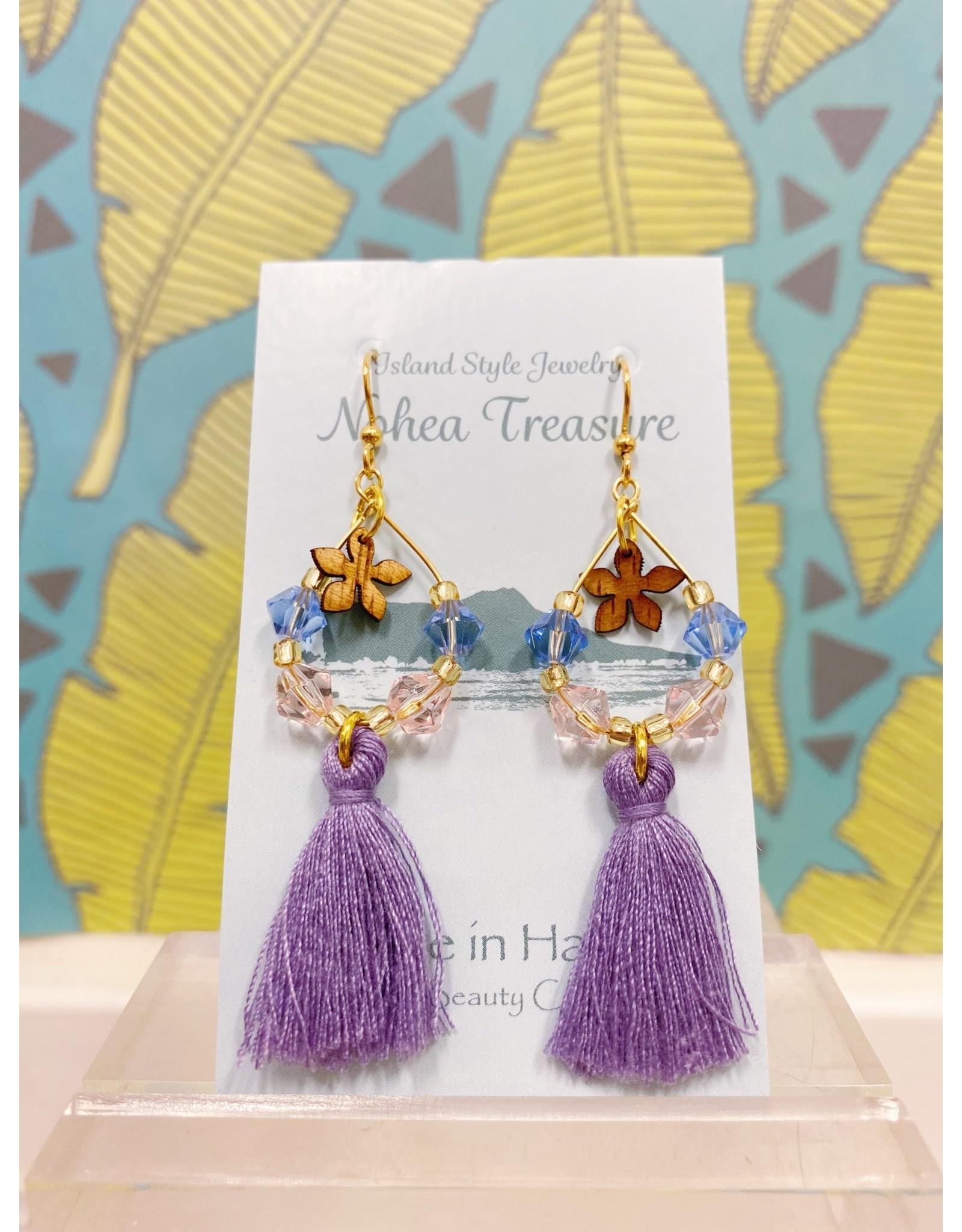 Aloha Beauty Creations Nohea Treasure Accessories Earrings Plumeria/Tassels