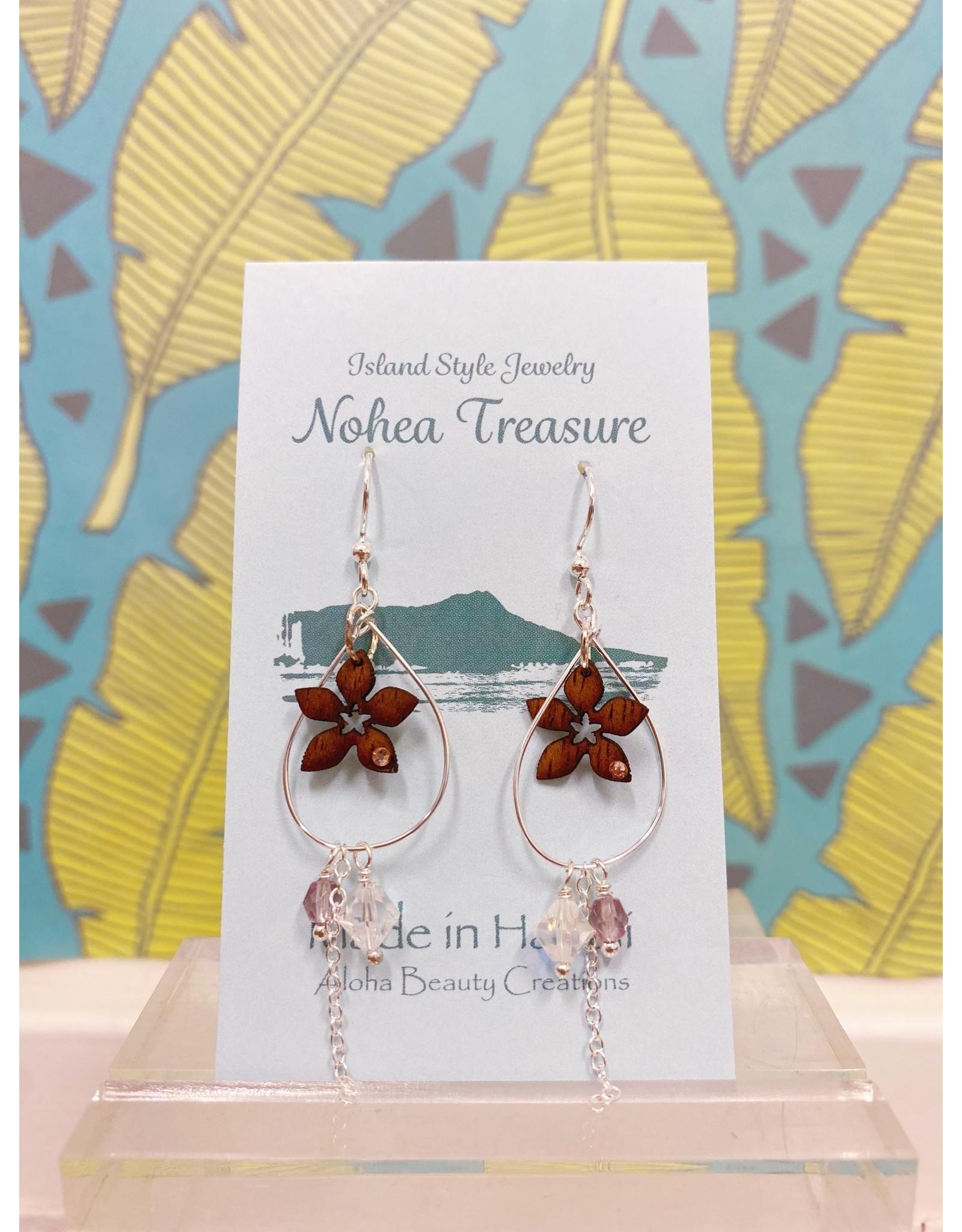 Aloha Beauty Creations Nohea Treasure Accessories Earrings Plumeria/Hoop