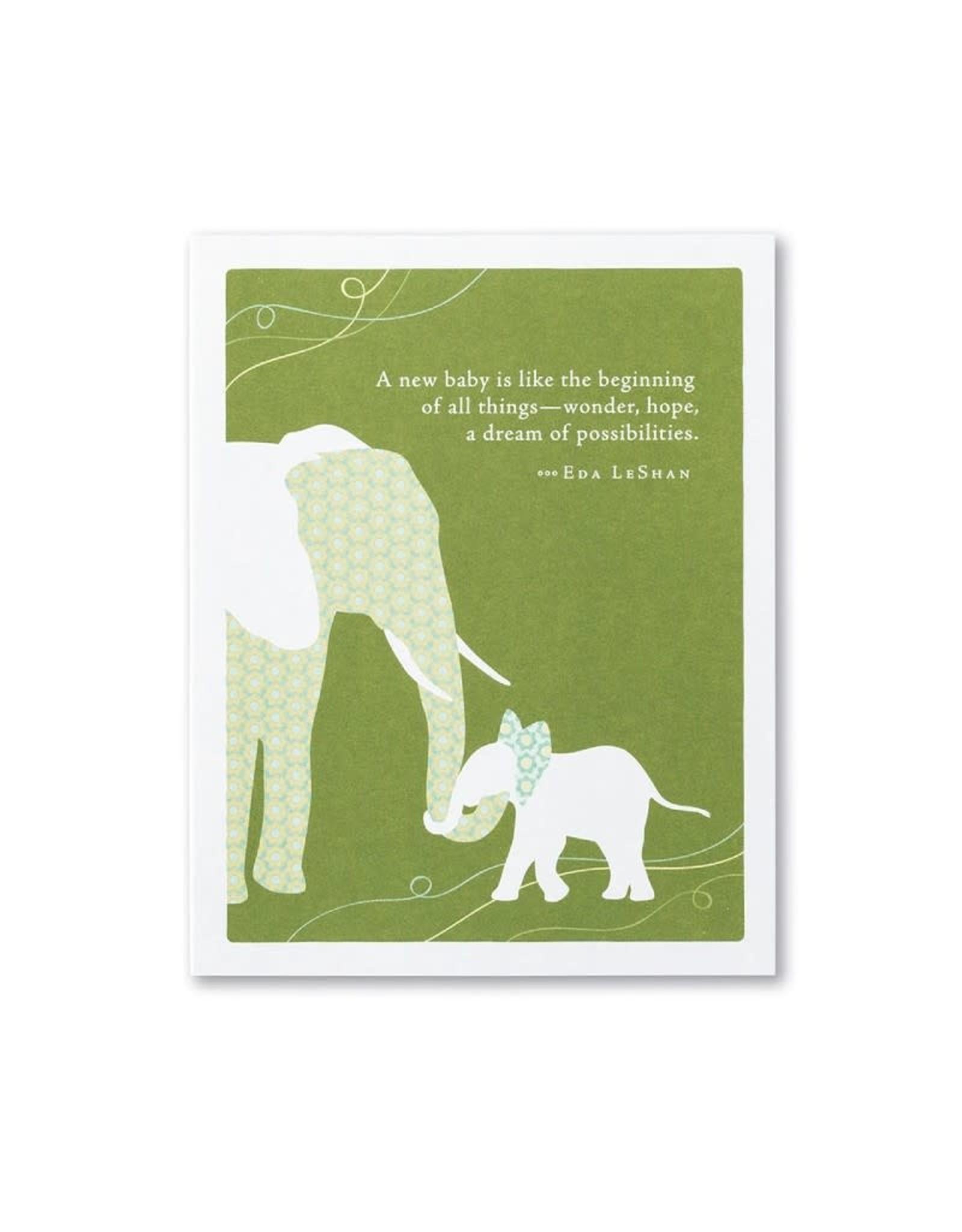 Positively Green PG Card Newborn