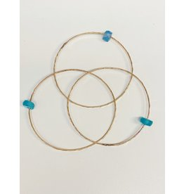 Sea Glass Bangle G-Filled