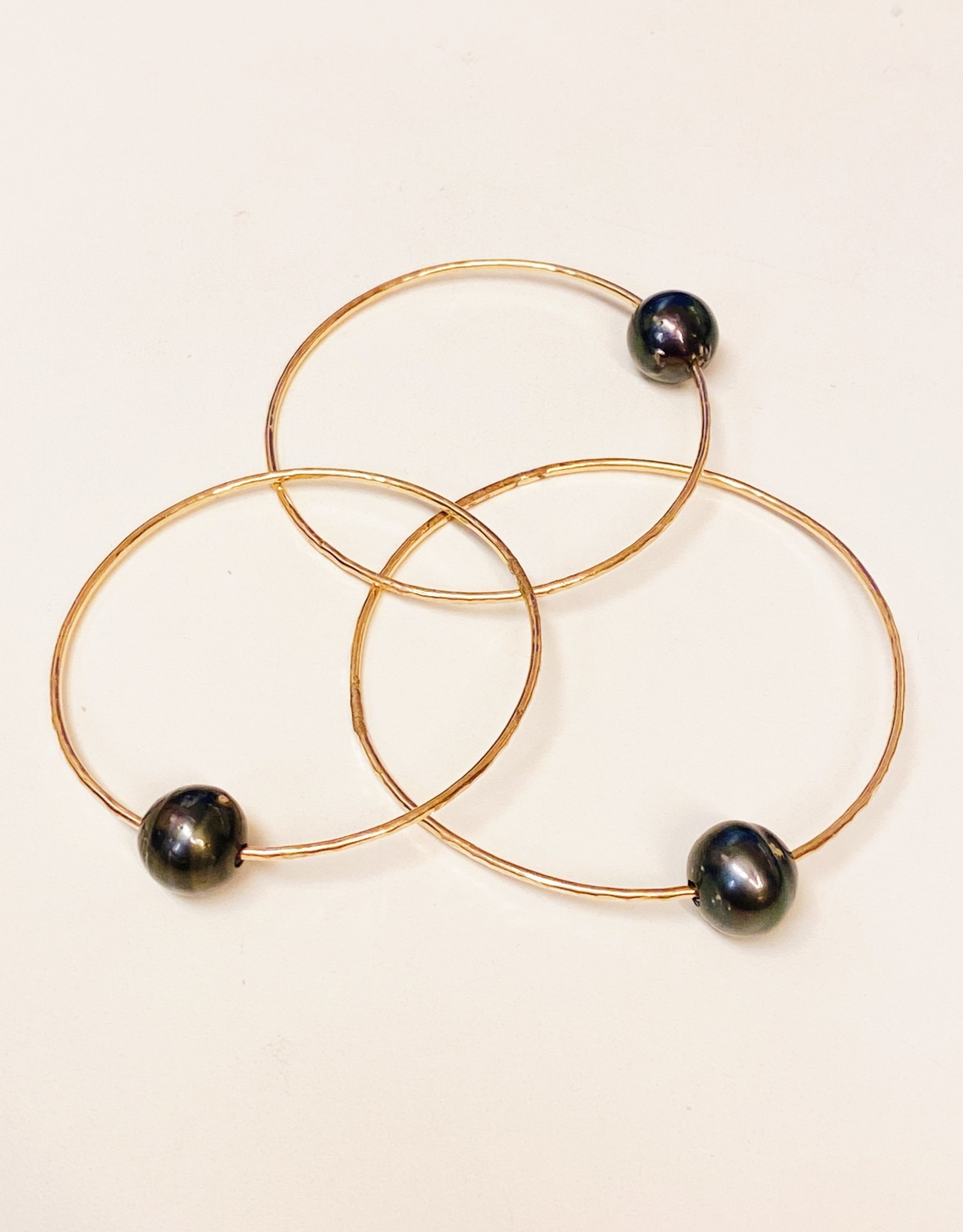 Midori Jewelry Tahitian Pearl Bangle Gold