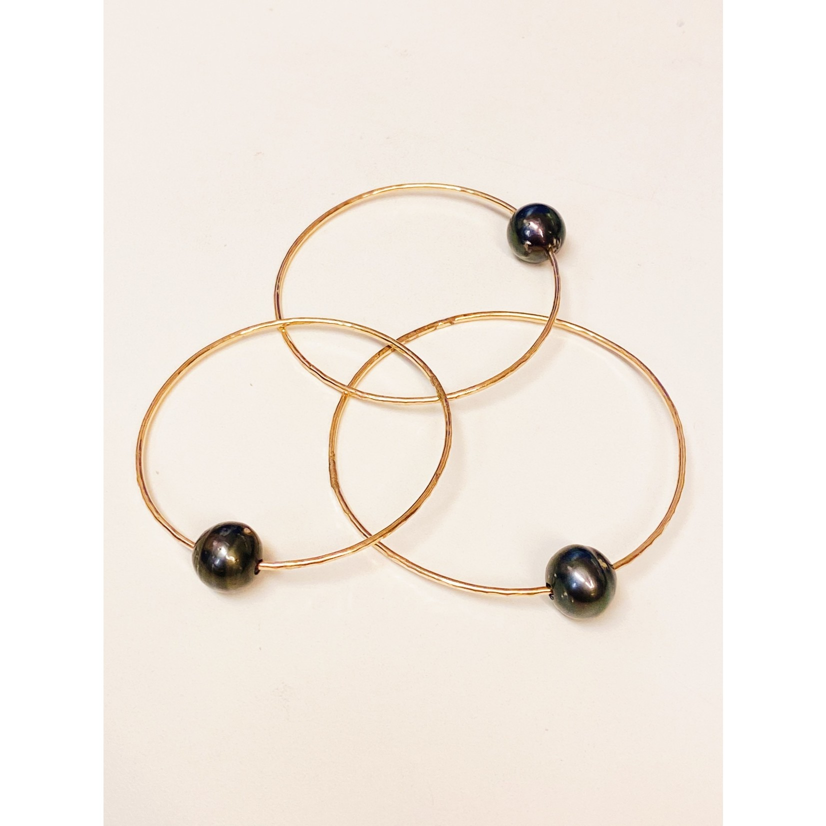 Midori Jewelry Tahitian Pearl Bangle Gold