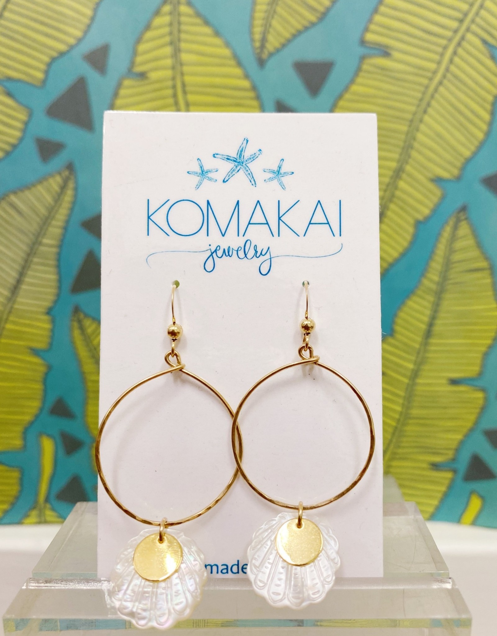 Komakai Jewelry MOP Shell Earrings