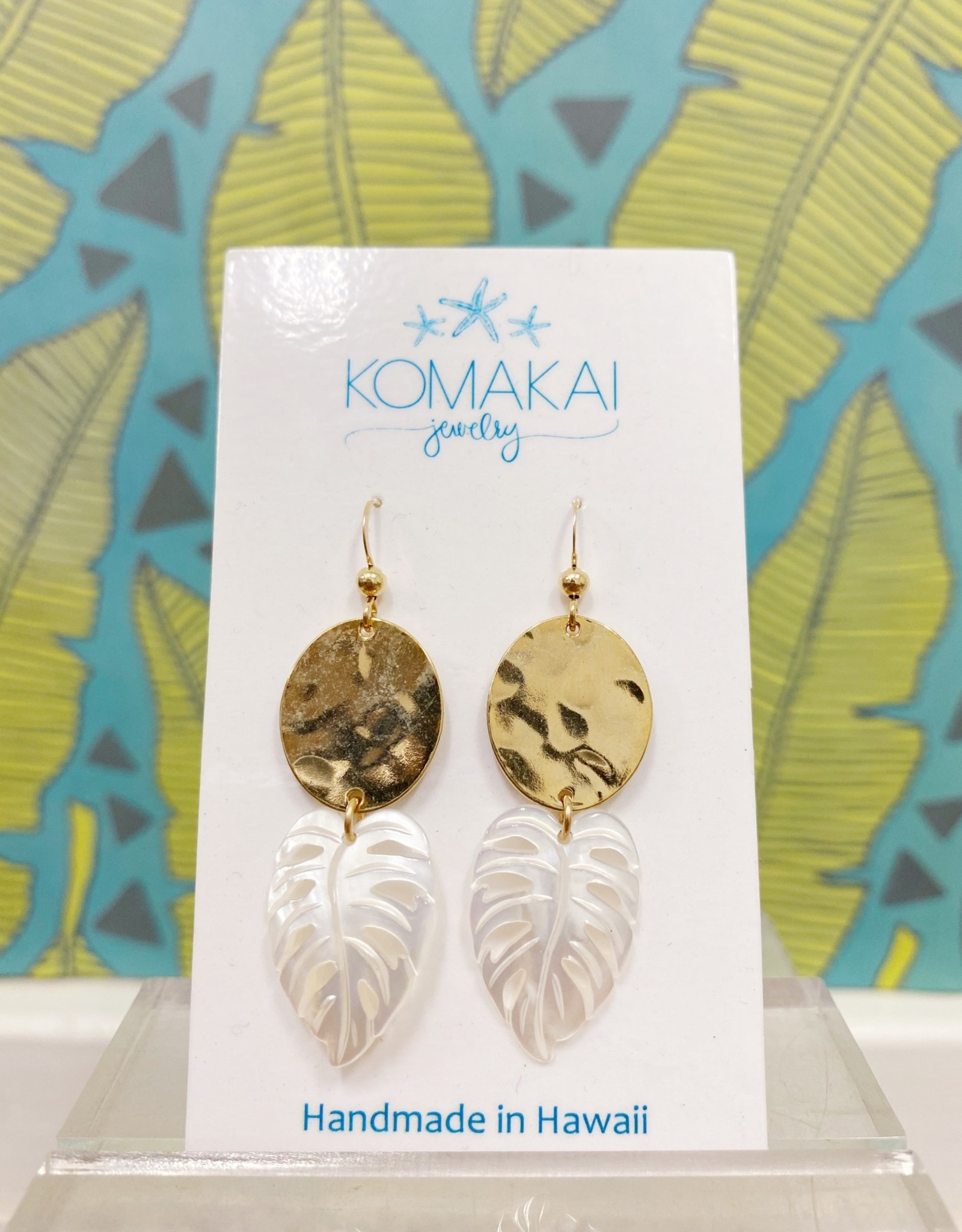 Komakai Jewelry Kalo Brass Earrings