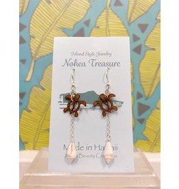 Aloha Beauty Creations Nohea Treasure Accessories Earrings Turtle w/ Shell