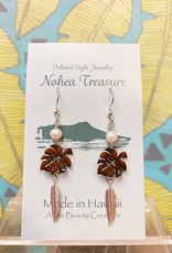 Nohea Treasure Accessories Earrings Monstera/Feather