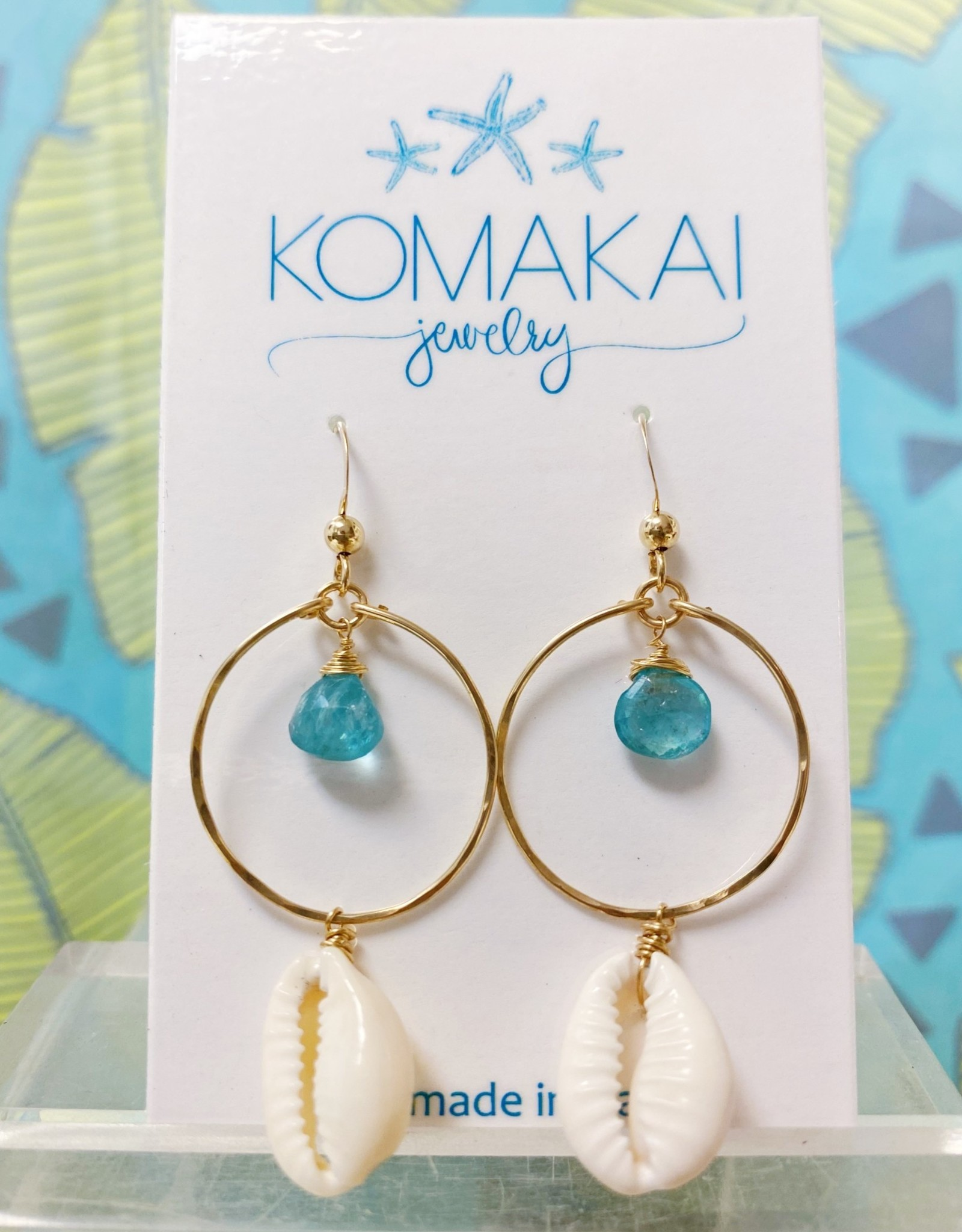 Komakai Jewelry Maldives Gem Apatite Earrings