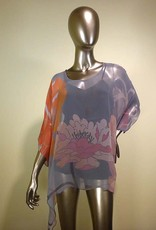 Cocoon House Silk Top w/ Long Points - Nuance