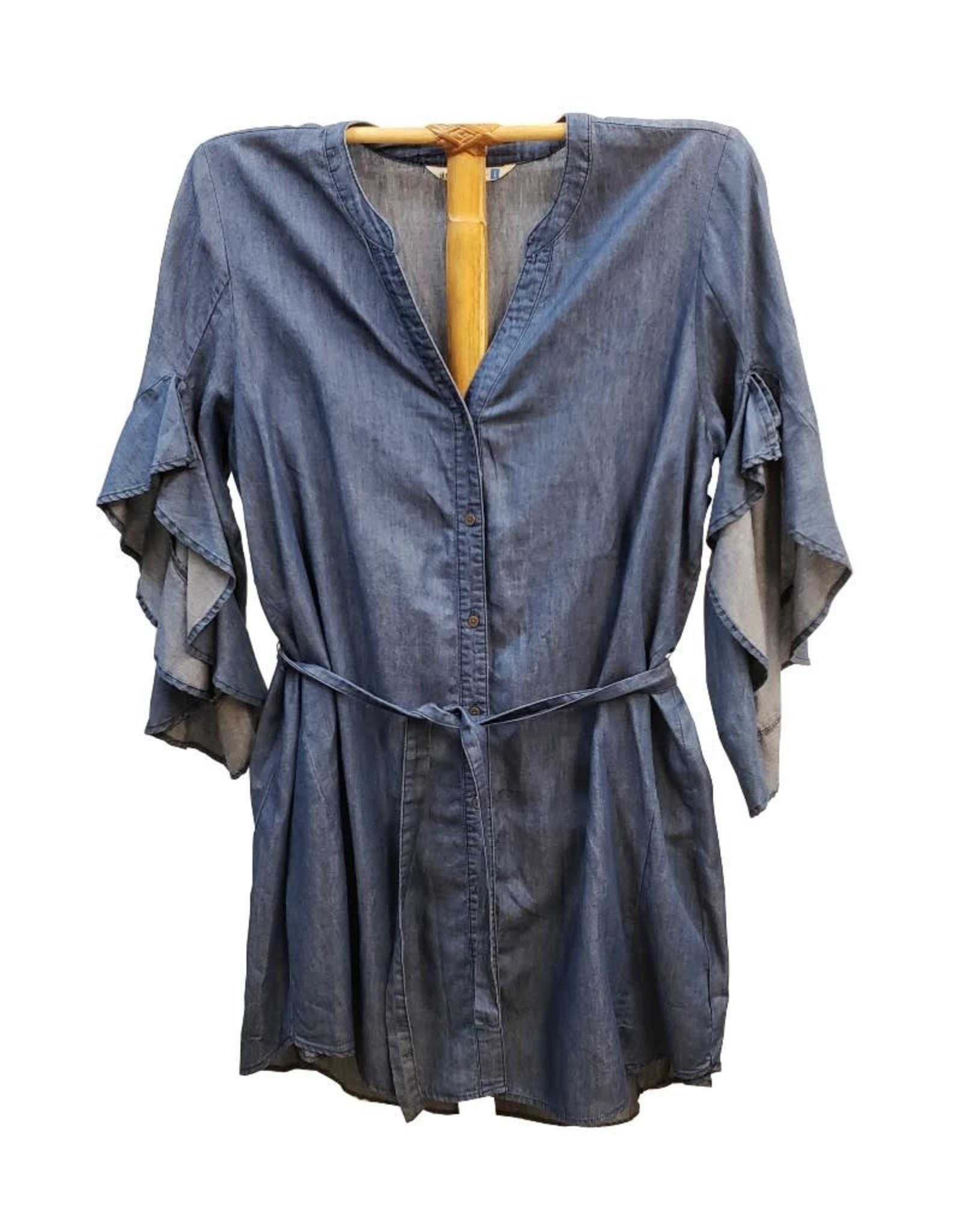Given Kale Ruffle Sleeve Dress