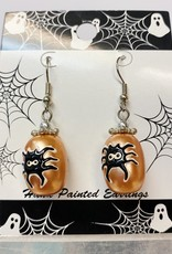 Halloween Hand Painted Earring: Spider