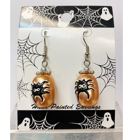 Fiona Accessories Halloween Hand Painted Earring: Spider