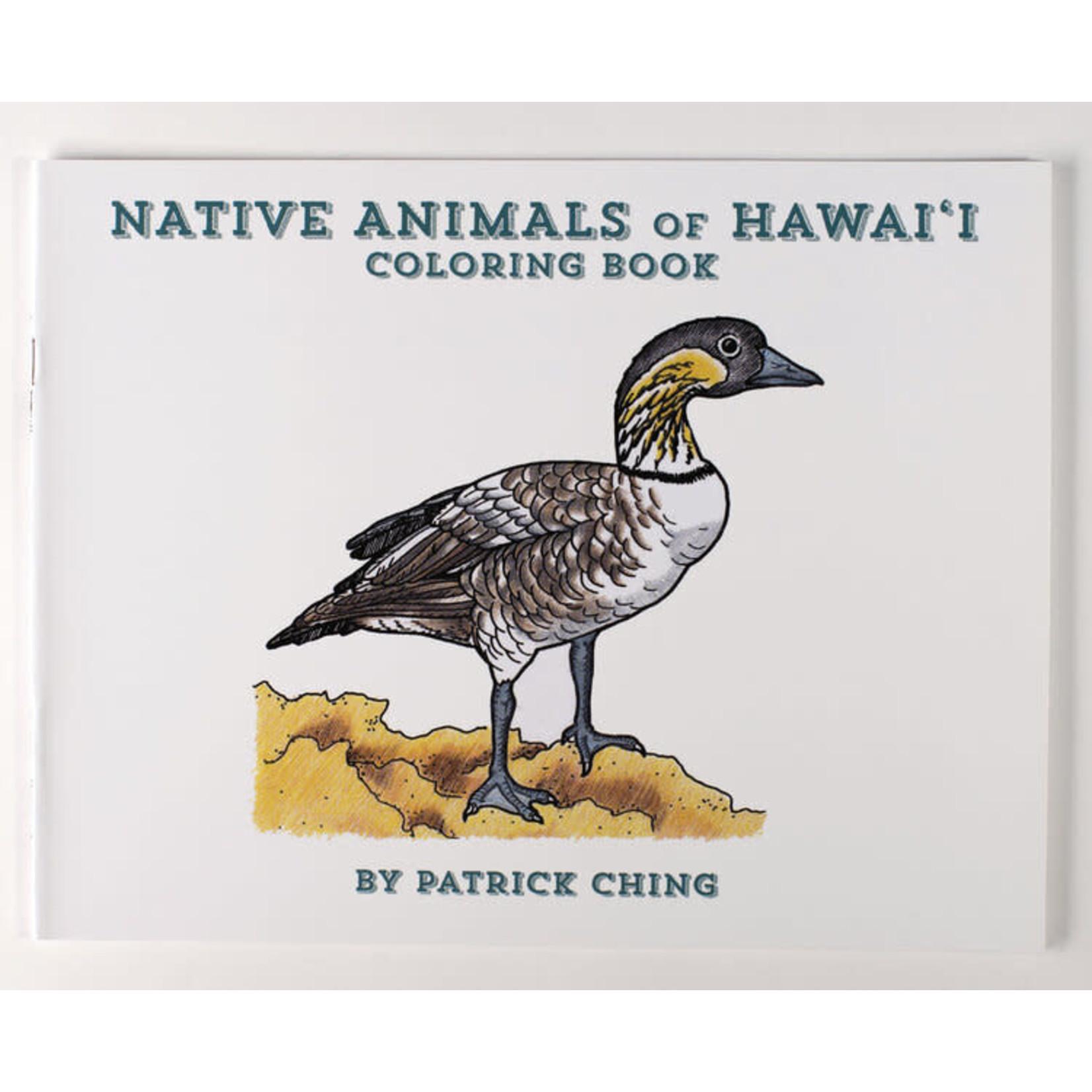 Bess Press Inc Native Animals of Hawaii Coloring Book