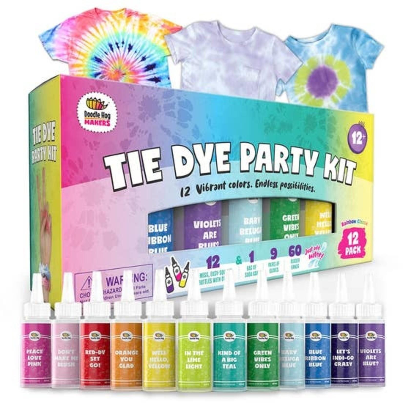 Doodle Hog Easy Tie Dye Party Kit for Kids