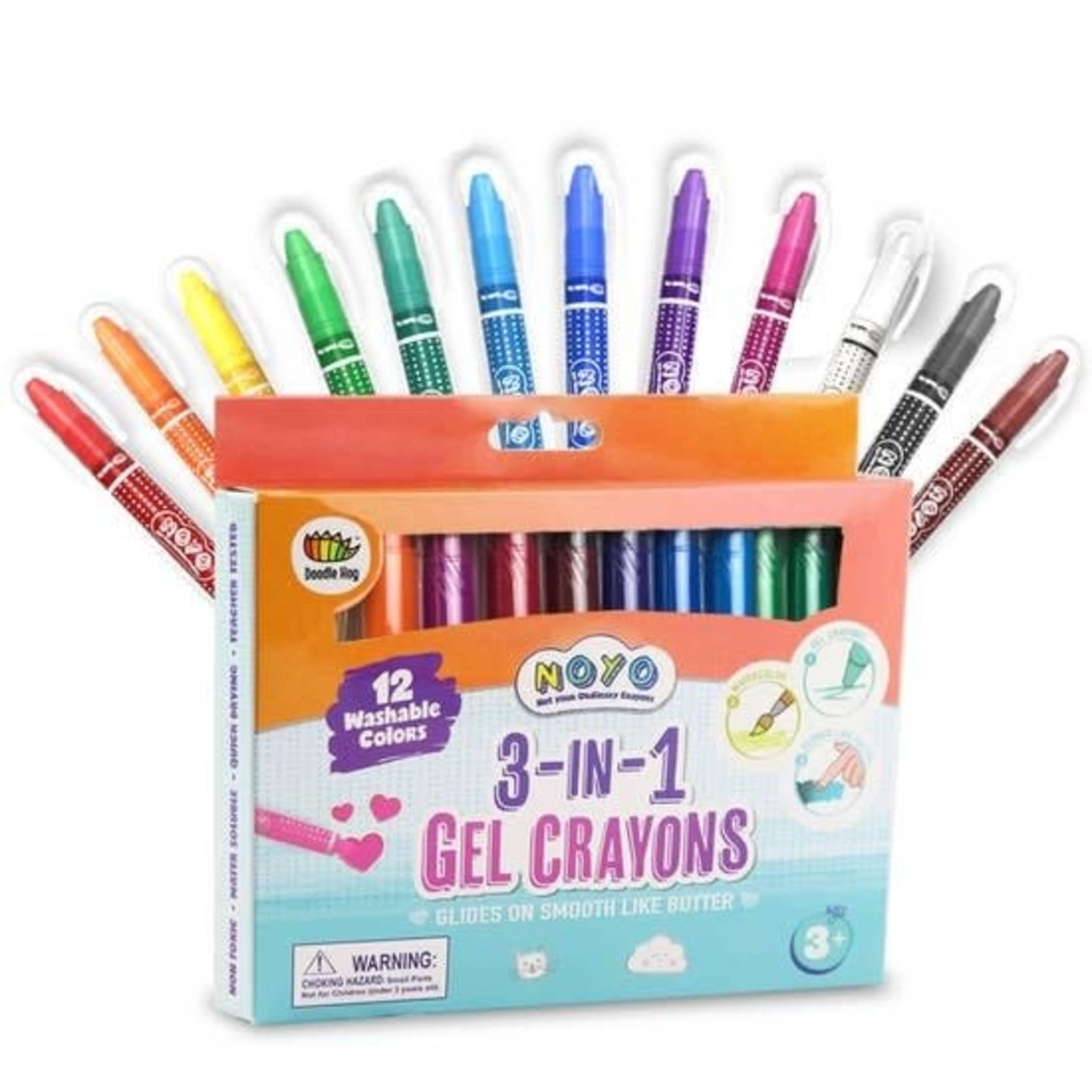 Doodle Hog Not Your Ordinary Crayons 12-pack