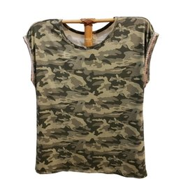 Hem & Thread Camo Tee Shirt w/ Trim