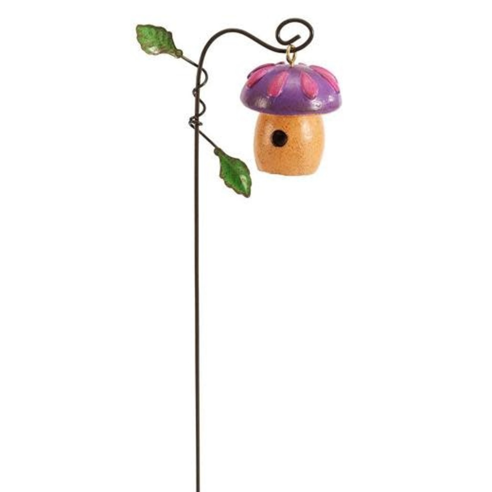 Studio M Mini Purple Toadstool Birdhouse
