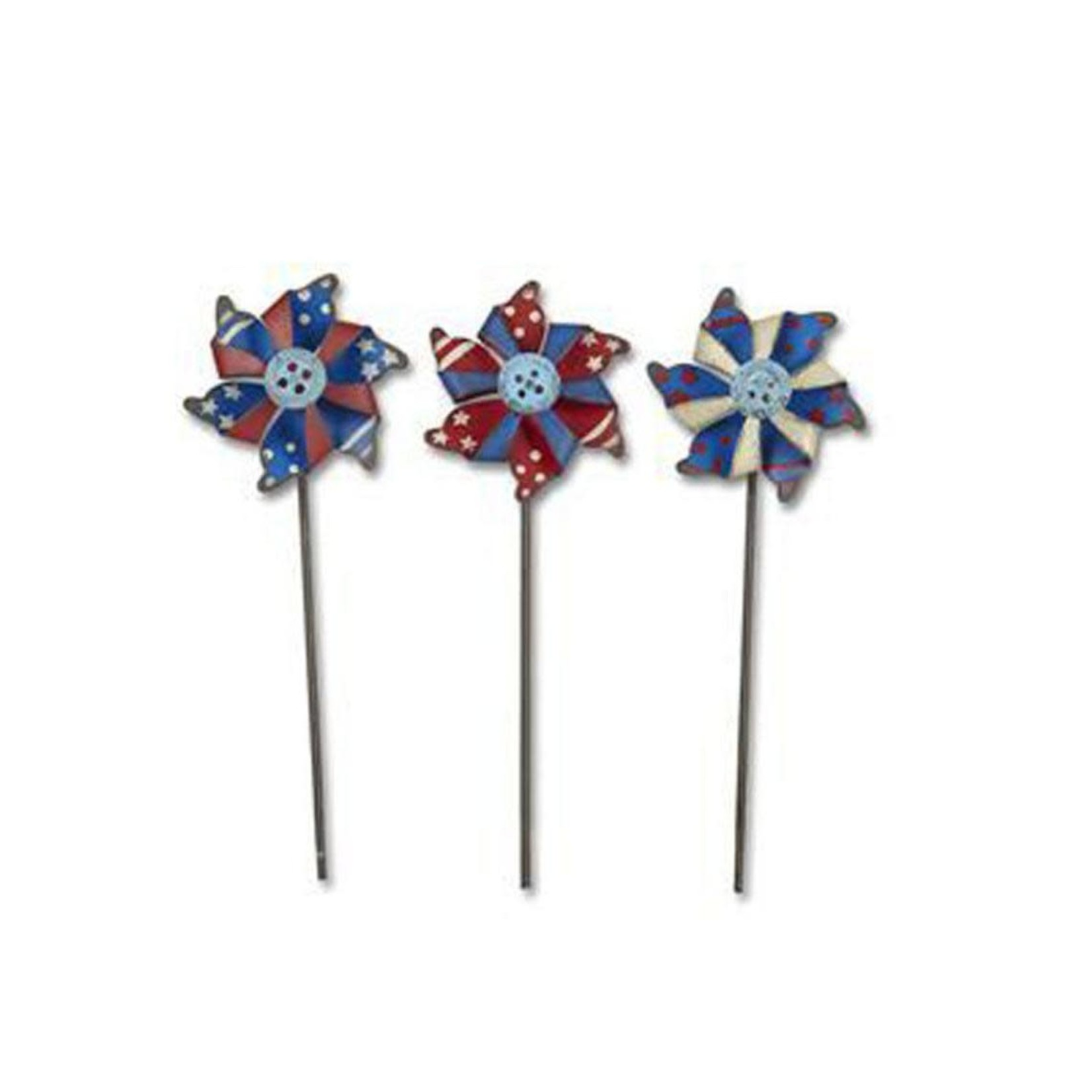 Studio M Mini Patriotic Pinwheels Set/3 Asst